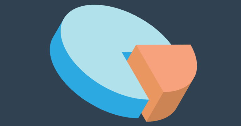 carve out transaction banner image pie chart